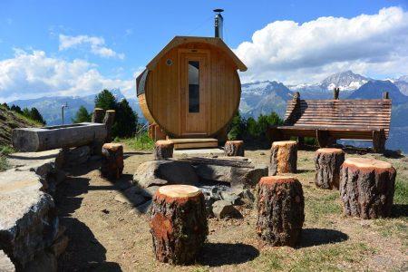 Moos-Alphütte Sauna