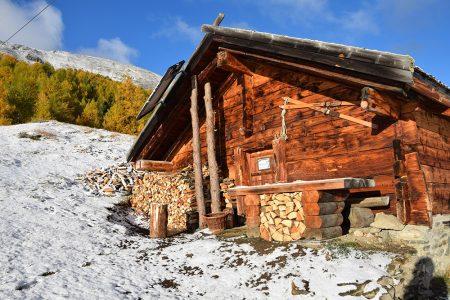Moos-Alphütte WIntereinbruch