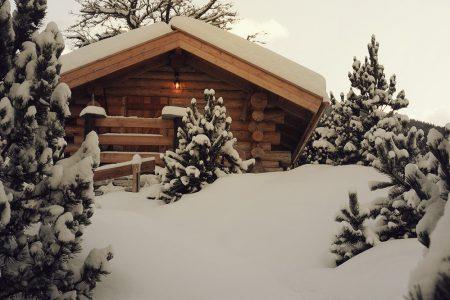 Sanitärhütte Winter