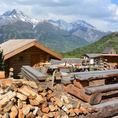 Holzlager..